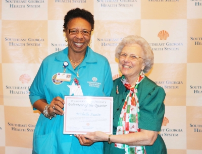 Michelle Austin Receives Volunteer of the Quarter